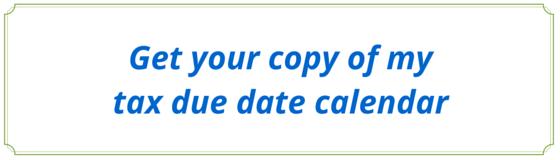 tax due calendar